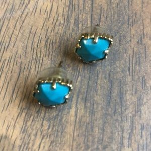 Kendra Scott turquoise earrings, VGUC